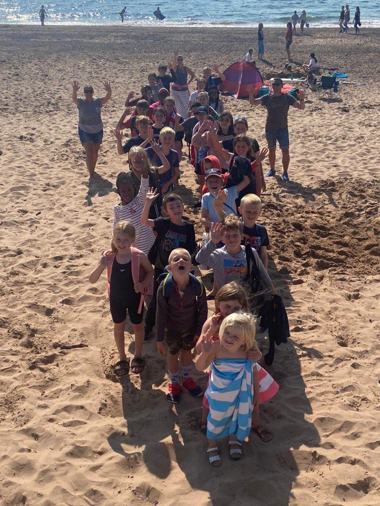 school beach day