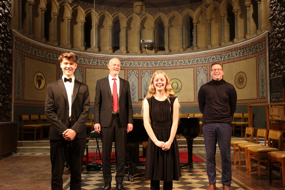 1. Winners Anthony Knight & Hetty Christopher With Guest Judge Peter Harrison And TS Director Of Music Mark Cracknell