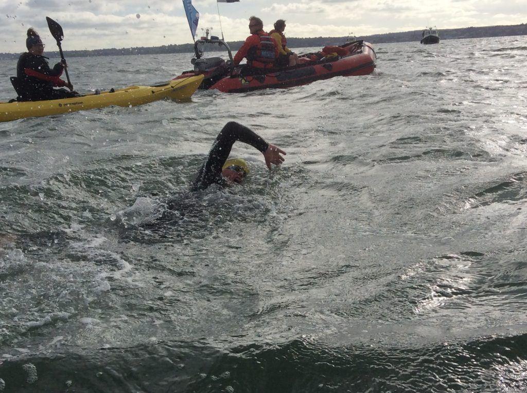 Solent swimmer