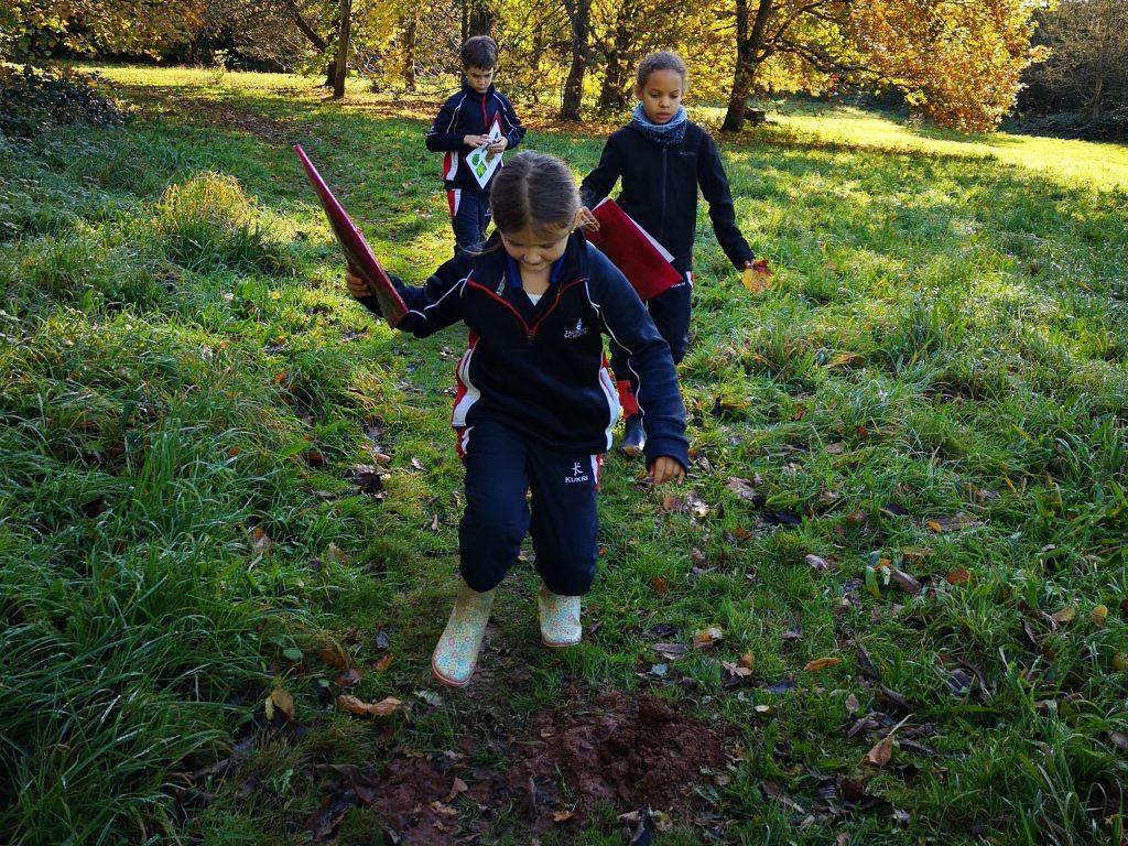 children exploring outdoors