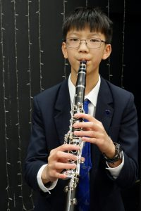 child playing clarinet