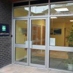 entrance to school health centre