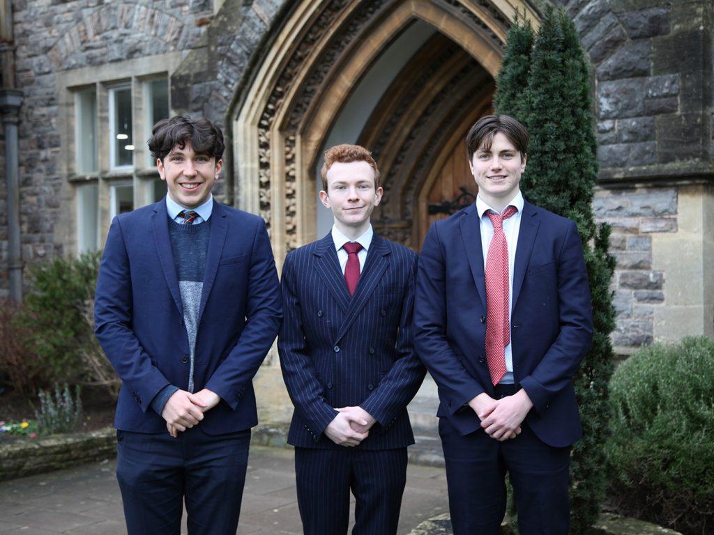 Oxbridge applicants Jack Kerslake, Julian Muller, Paddy Doherty Web