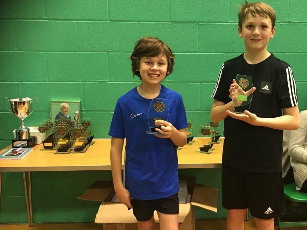 Josh And Jake Table Tennis champs 2020