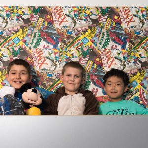 3 boys in pyjamas