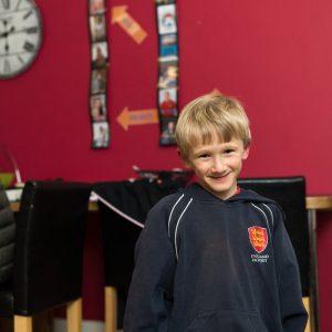 boy in England Hockey jumper