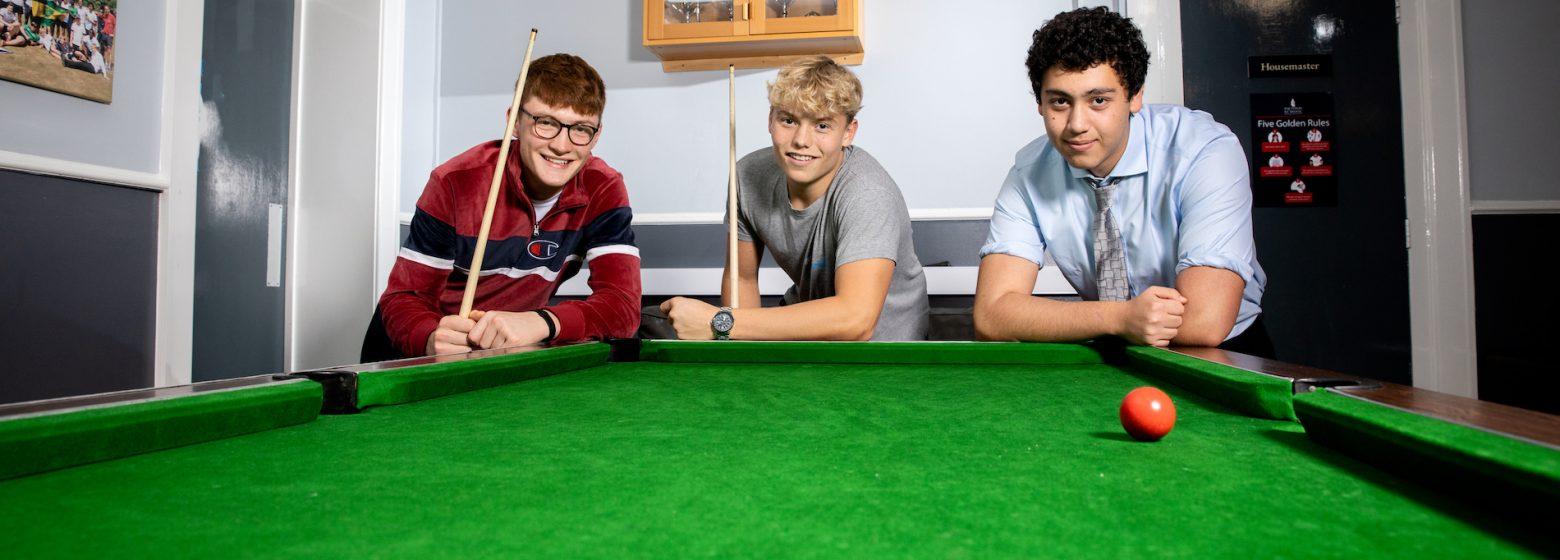 Boys at pool table