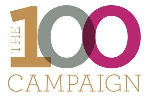the 100 campaign logo