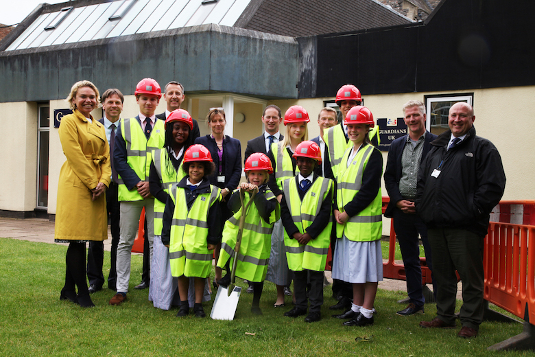 taunton-school-dining-hall-project-sod-cutting-with-students-staff-and-partners-1jul19.jpg