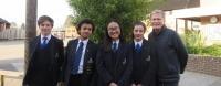 smiling school students