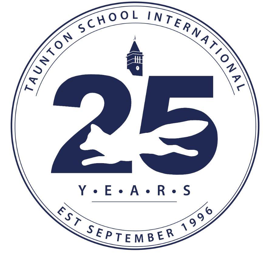Taunton School 25 years logo